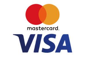 MasterカードとVisaカードが使えます
